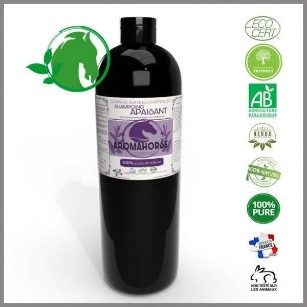 huiles essentielles shampoing apaisant chevaux